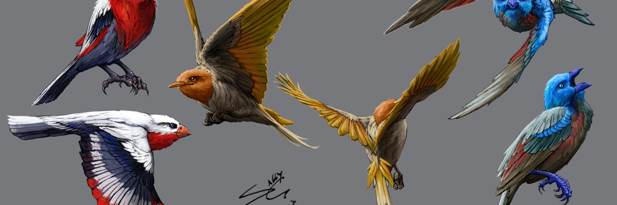 song bird concept art by sally gottschalk