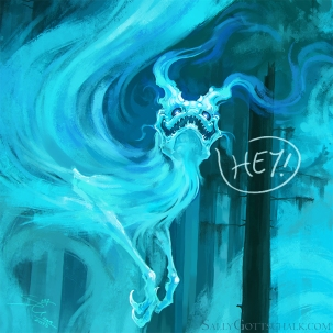 Fog Fantasy Creature Illustration by Sally Gottschalk