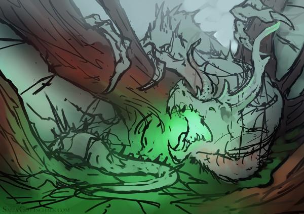 Dragon Fantasy Illustration by Sally Gottschalk