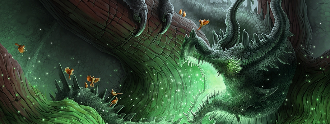 Dragon Fantasy Illustration by Sally Gottschalk