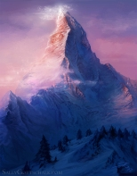 Matterhorn Switzerland Mountain Illustration by Sally Gottschalk
