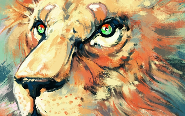 lion cat animal illustration sally gottschalk