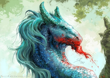 Kelpie Waterhorse Sally Gottschalk Fantasy Illustration Creature