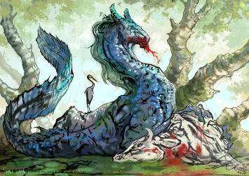 Kelpie Waterhorse Sally Gottschalk Fantasy Illustration Creature