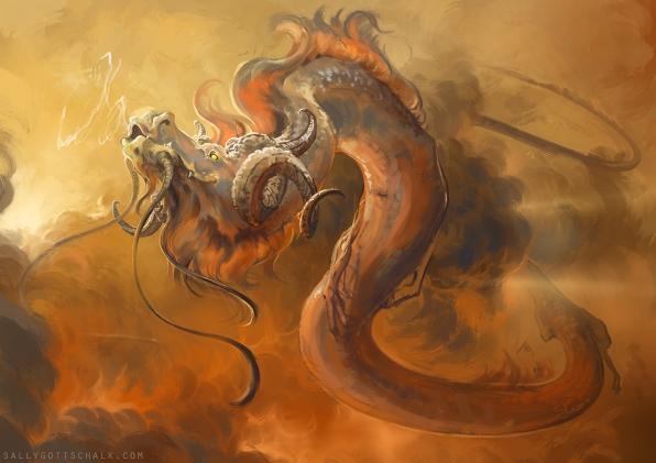 dragon sally gottschalk fantasy illustration