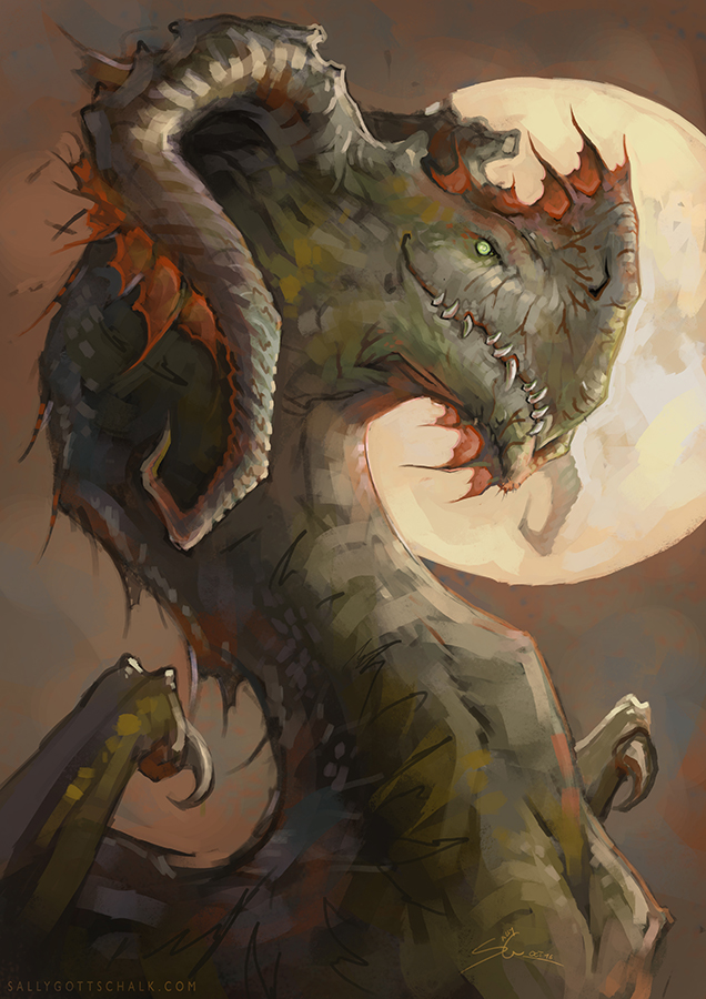 Dragon Hydra Creature Fantasy Sally Gottschalk Nigreda