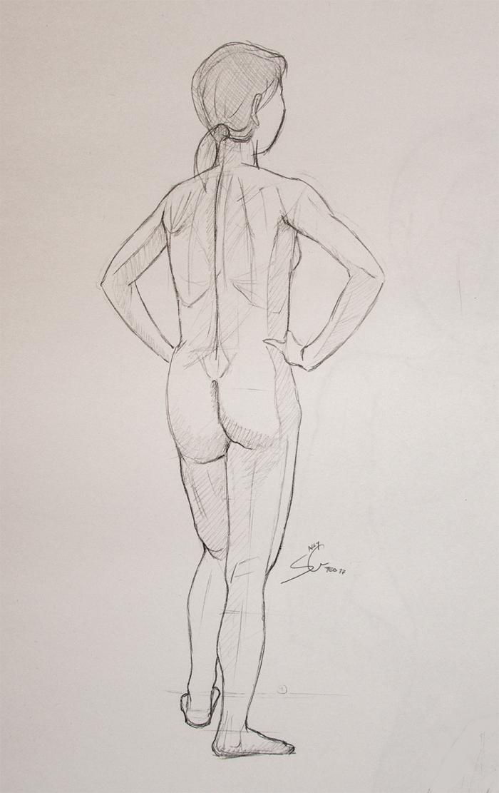 Anatomy Study - Life Drawing