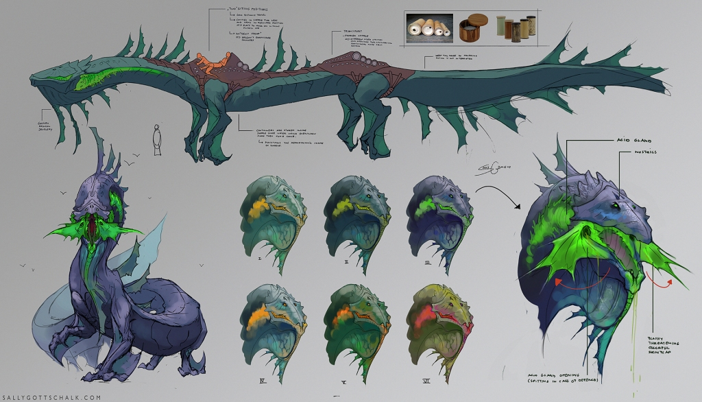 Dragon Design Concept Art Sally Gottschalk Nigreda