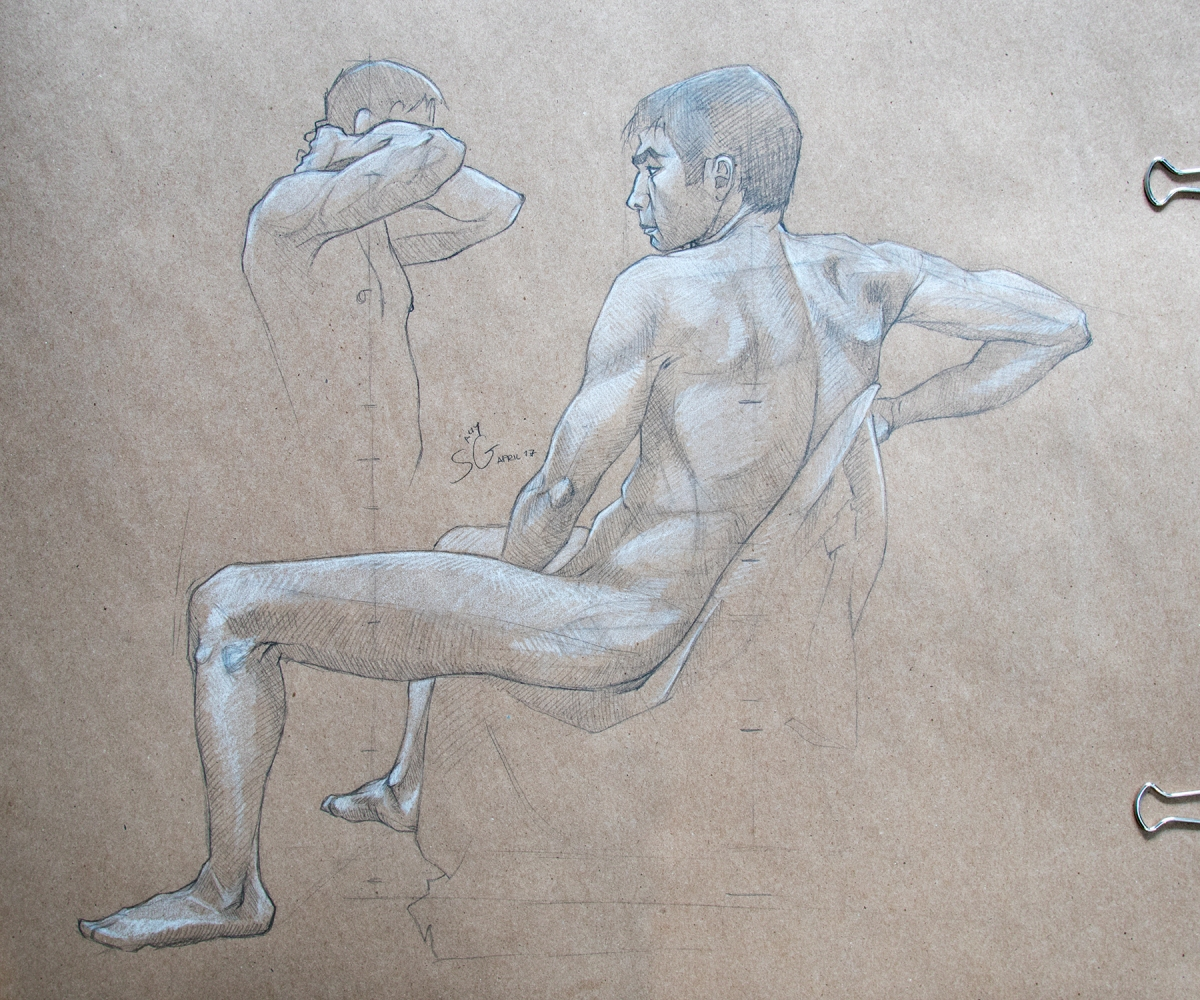 Life Drawing Concept Art Illustration