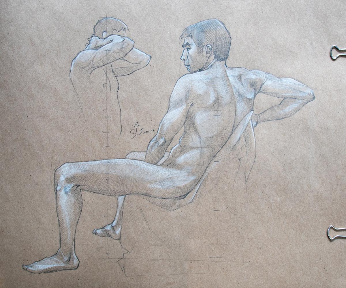 Live Drawing Anatomy Study Syn Studio Sally Gottschalk Nigreda