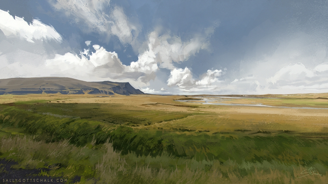 landscape study illustration sally gottschalk nigreda