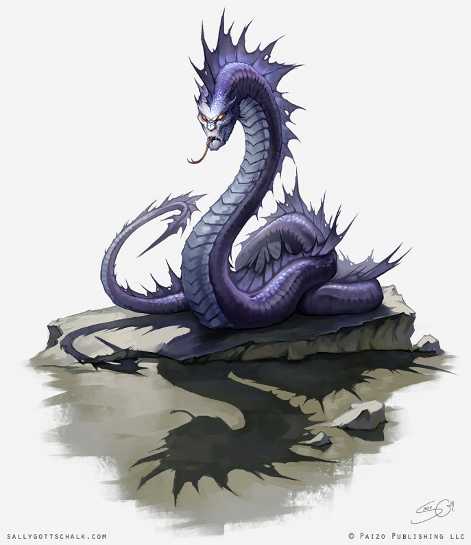 Fantasy Pathfinder Cradle of Night Dark Naga