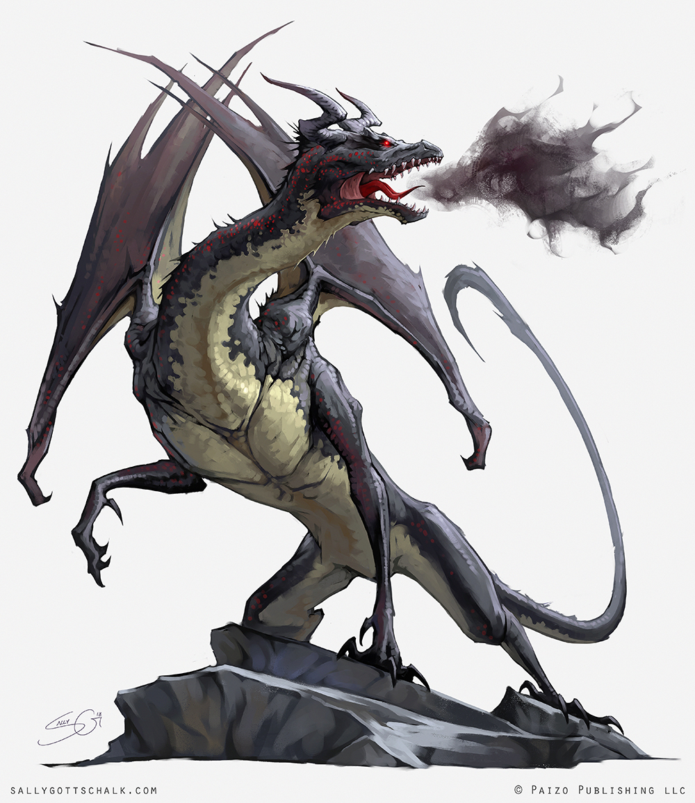 Fantasy Pathfinder Cradle of Night Umbral Dragon