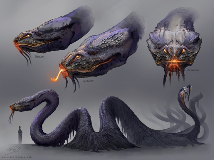 Fantasy Creature Serpent Concept Art Sally Gottschalk