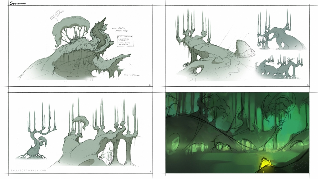 Trees Fantasy Environment Design Concept Art Sally Gottschallk