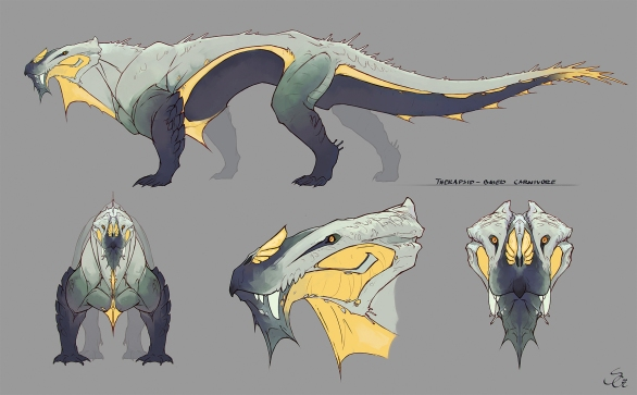 Therapsid creaturedesign conceptart